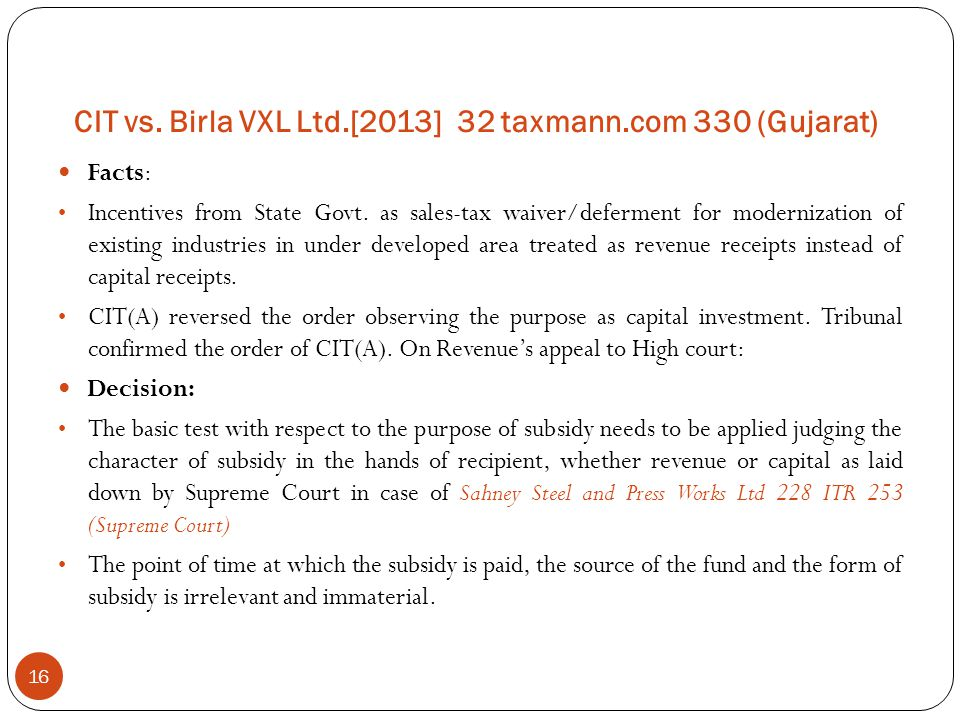 CIT vs. Birla VXL Ltd.[2013] 32 taxmann.com 330 (Gujarat)